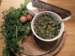 ricetta pesto alle foglie di carota
